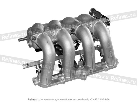 Inlet manifold with throttle body and fuel rail as - 480ED-1008001BA