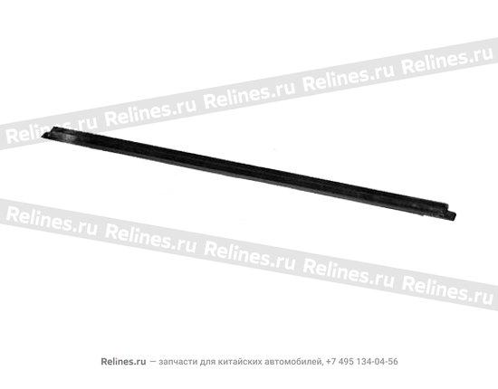 Уплотнитель стекла передней правой двери наружный(бархотка) - A11-5206116