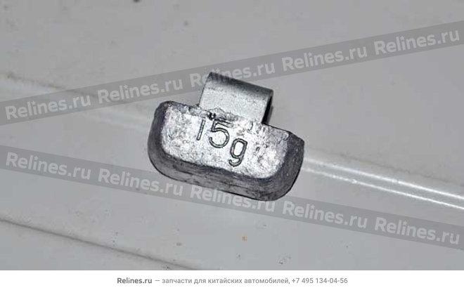 Weight - 15G aluminium wheel