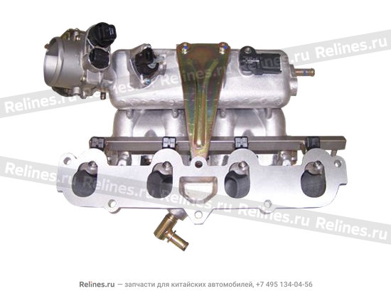 Inlet manifold with throttle body and fuel rail as - 480ED-1008001CA