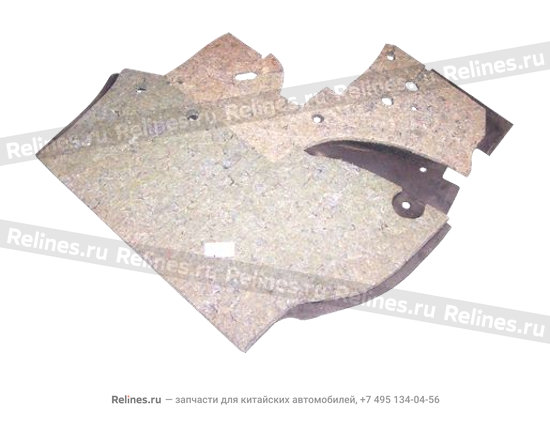 Front baffle left shock adsorb - A11-5300021