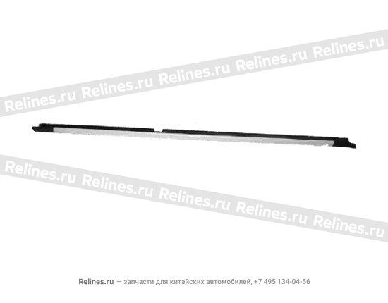 Уплотнитель стекла наружный задний правый(бархотка) - A11-5206312