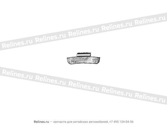Weight - 35G aluminium wheel - A11-3100227BA