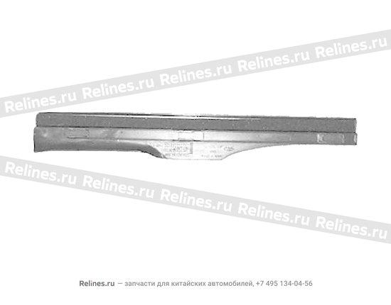 Накладка порога задняя правая серая - A11-5101060AL