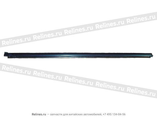 Уплотнитель стекла передней левой двери наружный(бархотка) - A15-5206115
