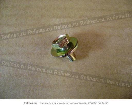 "Изображение продукта ""Bolt w/washer(heat insulator-exhaust pip"""