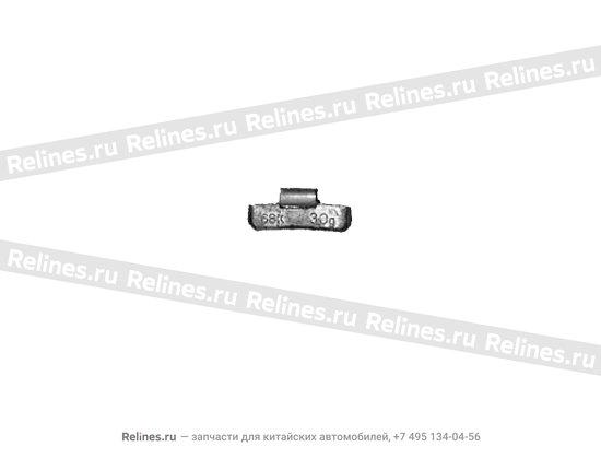 Weight - 30G steel wheel - A11-3100225
