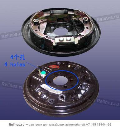 Механизм тормозной задний левый (Без ABS)