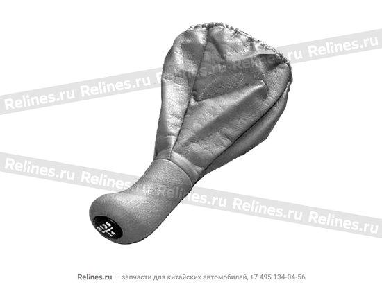 Ручка (чехол) КПП серая - A11-1703510AL