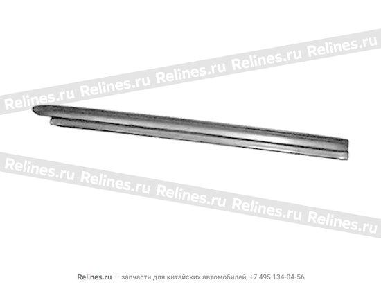Накладка порога передняя правая серая - A11-5101040AL