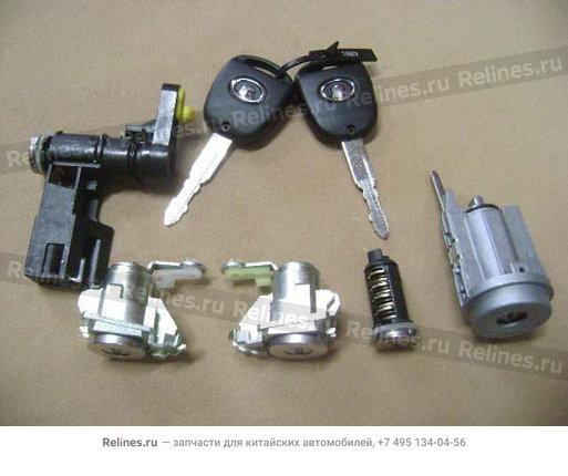Выключатель замка двери и замка зажигания (полный комплект) - 9100706