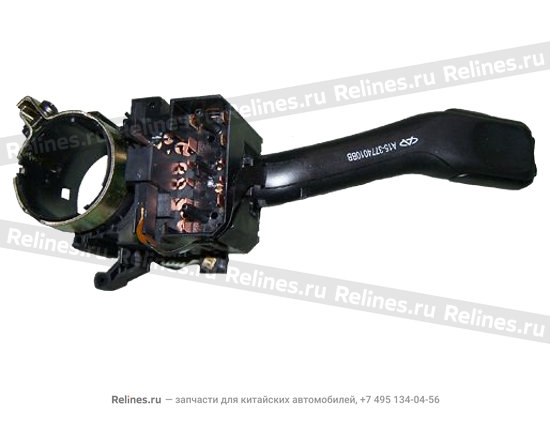 Switch-steering and headlamp