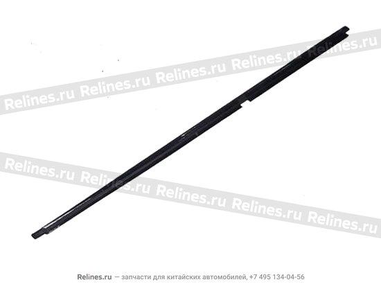 Уплотнитель стекла наружный задний левый (бархотка) - A11-5206311