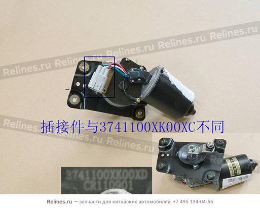 Мотор стеклоочистителя Hover H3. H5 (овальная фишка) - 3741100XK00XD
