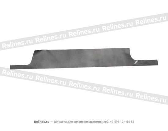 Diaphragm(r),rear scuff plate - A11-6102916