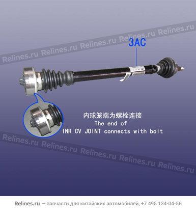 Привод колеса правый - A11-2203020