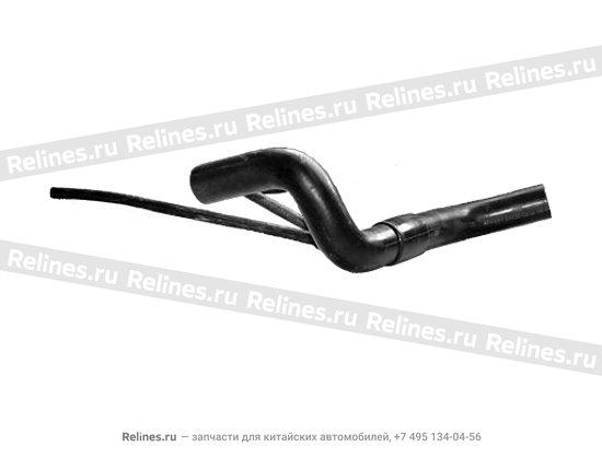 Патрубок системы охлаждения от радиатора к бачку расширительному и корпусу термостата - A11-1303210CA